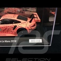 Porsche 911 RSR type 991 winner 24h du Mans 2018 n° 92 Pink Pig Copy N° 2/2018 1/43 Spark WAP0209250K