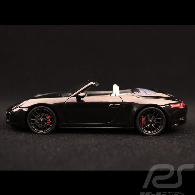 Porsche 911 type 991 Carrera GTS cabriolet 2017 schwarz metallic 1/43 Spark S7622