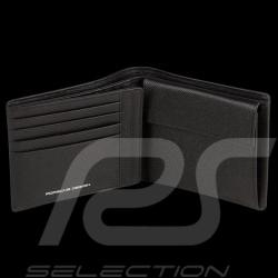 Porsche wallet credit card holder H10 3 flaps French Classic 3.0 black leather Porsche Design 4090001814