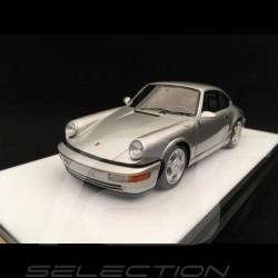 Porsche 911 type 964 Carrera RS 1992 silver grey 1/43 Make Up Vision VM122C