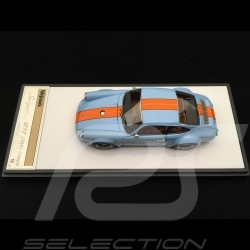 Porsche 911 type 964 Singer bleu Gulf  / bandes orange 1/43 Make Up Vision VM111I