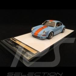 Porsche 911 typ 964 Singer Gulfblau / Orange Streifen 1/43 Make Up Vision VM111I