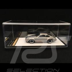 Porsche 911 type 964 Singer titanium silver  / Blue stripes 1/43 Make Up Vision VM111J