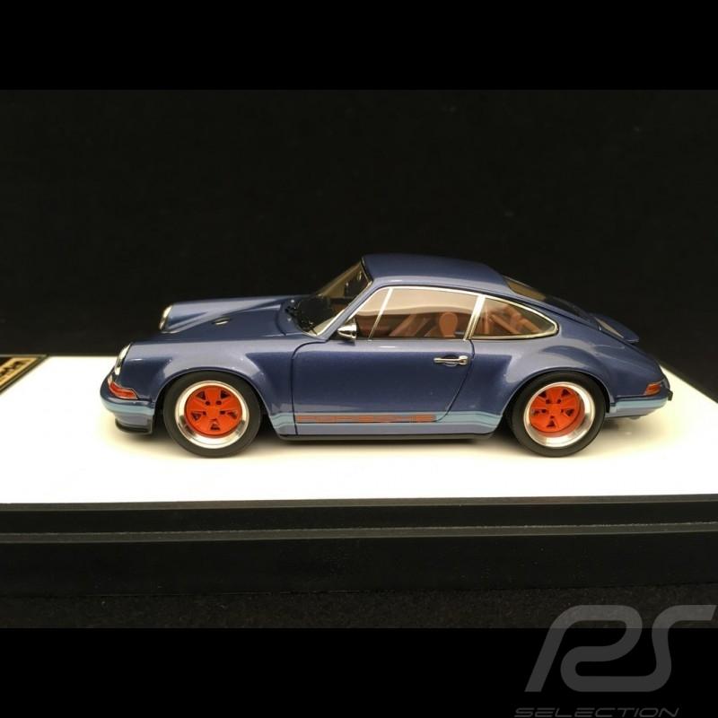 Singer Porsche 911 type 964 bleu glacial métallisé 1/43 Make Up Vision VM111K