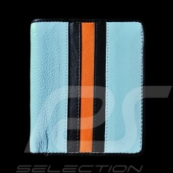 Portefeuille Gulf racing Porte monnaie et porte cartes Cuir Bleu Card holder and coin purse Geldbeutel Brieftasche und Kartenhal