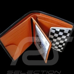 Gulf racing Wallet Card holder and coin purse Blue Leather