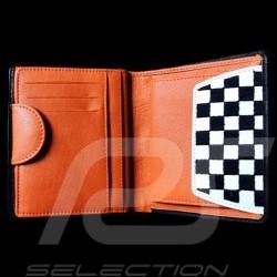 Portefeuille Gulf racing Porte monnaie et porte cartes Cuir Bleu Card holder and coin purse Geldbeutel Brieftasche und Kartenhal