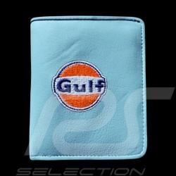 Gulf logo Geldbeutel Brieftasche und Kartenhalter Blau Leder