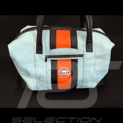 Sac de voyage Gulf Racing cuir bleu / orange / noir Travel bag Reisetasche