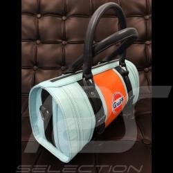 Gulf Handtasche Bowling style blau / orange / schwarz Leder