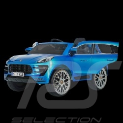 Porsche Macan Turbo Battery vehicle for children 12V Metallic blue
