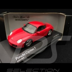 Porsche Cayman S type 987 Indischrot Guards red rouge Indien 1/43 Minichamps 400065620