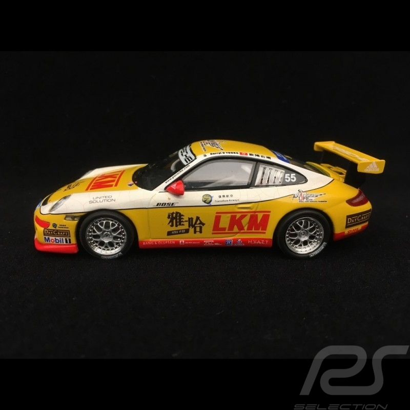 Porsche 911 GT3 typ 997 LKM Carrera Cup Asia 2007 n° 55 1/43 Minichamps 400076455