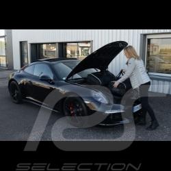 Porsche 997 Reisegepäck Maßgefertigt aus schwarzem Stoff - Trolley und Reisetasche