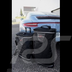 Porsche 997 Luggage set Custom fit black fabric - Wheeled trolley plus carrier bag