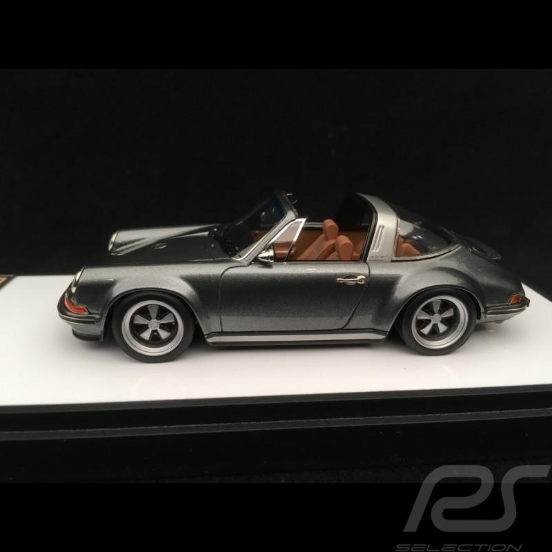 Singer 911 Porsche Targa 964 Gun metallic 1/43 Make Up Vision VM135B
