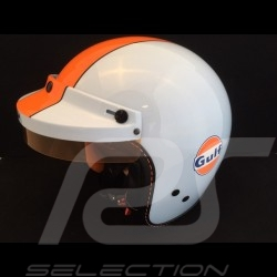 Casque Gulf bleu / orange Helmet Gulf blue / orange Helm Gulf blau / orange