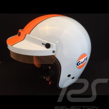 Casque Gulf bleu celeste / orange Helmet Gulf celestial blue / orange Helm Gulf Himmelsblau / orange