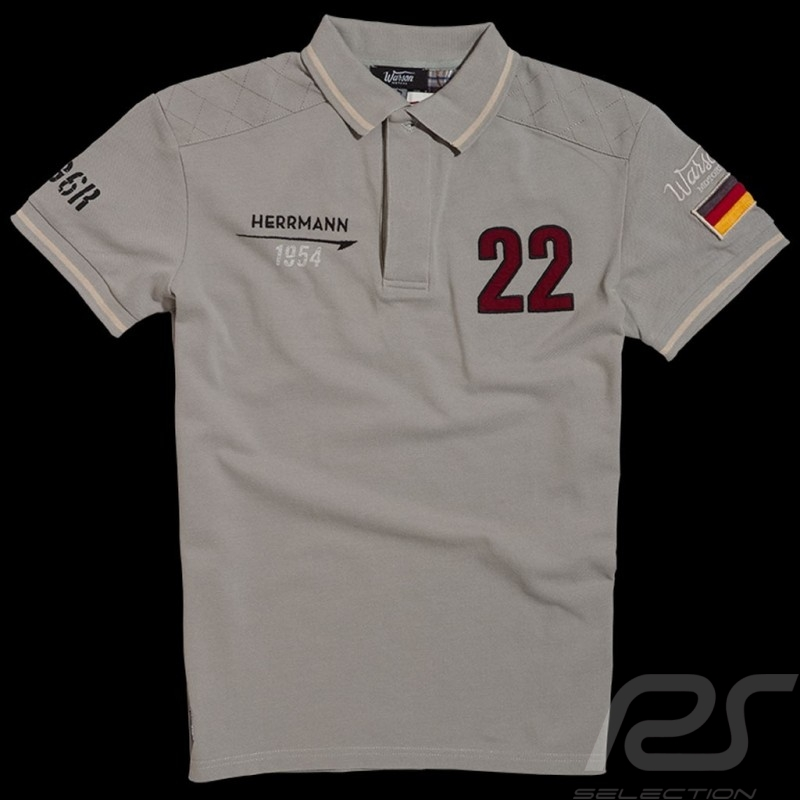 Polo Hermann 1954 n° 22 gris homme men herren