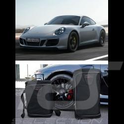 Ensemble de bagages Porsche 991 sur mesure en toile noir - Trolley et sac de voyage Luggage set Reisegepäck