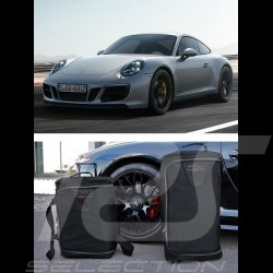 Porsche 991 Luggage set Custom fit black fabric - Wheeled trolley plus carrier bag