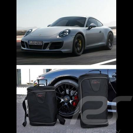 Porsche 991 Luggage set Custom fit black fabric - Wheeled trolley plus carrier bag