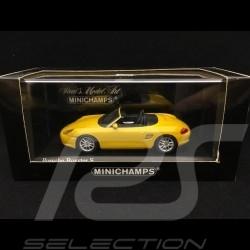 Porsche Boxster S 986 2002 jaune Vitesse Speed yellow Speedgelb 1/43 Minichamps 400062072