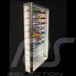Wall showcase for 8 to 60 Porsche models scale 1/43 1/24 1/18 - Oak