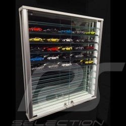 Wandmontierte Glasvitrine mit 2 Türen massgeschnitten für bis zu 55 1/43 Modellautos parfüm