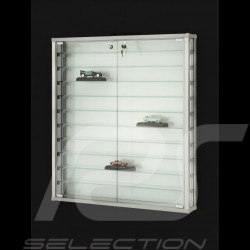 Wall-mounted Display Unit specially conceived to showcase up to 55 Porsche model cars 1/43 scale perfume