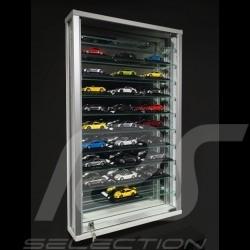 Vitrine murale spéciale modèles réduits jusqu'à 33 miniatures Porsche à l'échelle 1/43 Wall-mounted Display Unit Wandmontierte G