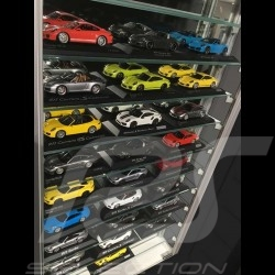 Wall-mounted Display Unit specially conceived to showcase up to 33 Porsche model cars 1/43 scale perfume