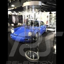 Vitrine ovale 360 degrés spéciale modèles réduits 5 miniatures Porsche à l'échelle 1/12