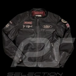 Leather jacket Jo Siffert Classic driver black - men