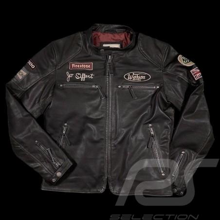 Leather jacket Jo Siffert Classic driver black - men