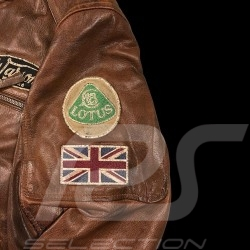 Veste cuir pilote Jo Siffert Classic driver marron - homme Leather jacket Lederjacke men herren brown braun