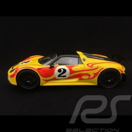 Slot car Porsche 918 Spyder 1970 n° 2 1/32 Carrera 20030877