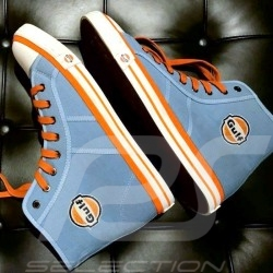 Gulf Hi-top sneaker / basket shoes Converse style Gulf blue - men