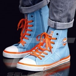 Gulf Hi-top sneaker / basket shoes Converse style Gulf blue - men