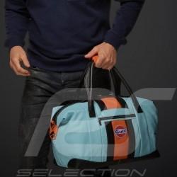 Gulf Racing Reisetasche Leder blau / orange / schwarz