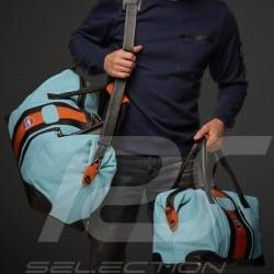 Sac de voyage Gulf Racing cuir bleu / orange / noir Travel bag Reisetasche