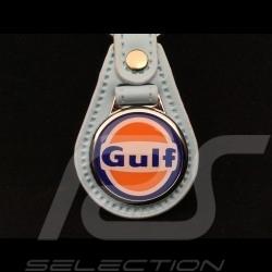 Gulf crest leather keyring Gulf blue