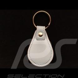 Porte-clés Gulf écusson cuir bleu Gulf Gulf crest leather keyring Schlüsselanhänger