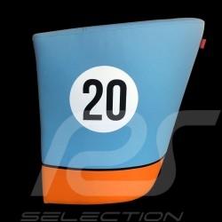 Leather Tub chair Racing Inside n° 20 blue Racing team / orange