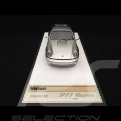 Porsche 911 type 964 Turbo 3.3 1991 silver 1/43 Make Up Vision VM123A