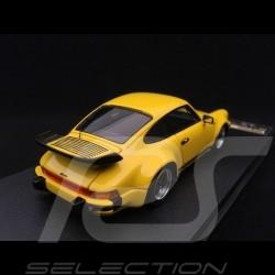 Porsche 911 type 930 Turbo 3.3 1988 Speed yellow 1/43 Make Up Vision VM088E