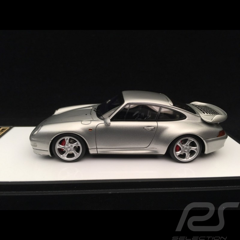 Porsche 911 type 993 Turbo 1995 silver 1/43 Make Up Vision VM112B