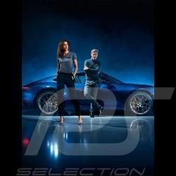 Pull pullover Porsche laine / cachemire gris chiné Porsche WAP945K - homme