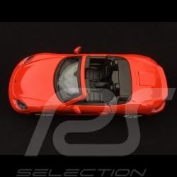 Porsche 718 Boxster 982 2017 Lava orange 1/24 Bburago 21087OR
