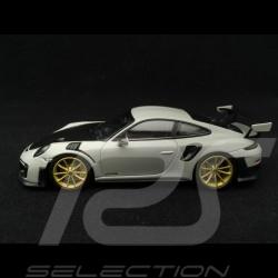 Porsche 911 typ 991 GT2 RS 2018 Kreidegrau / Kohlenstoff 1/43 Minichamps 410067226